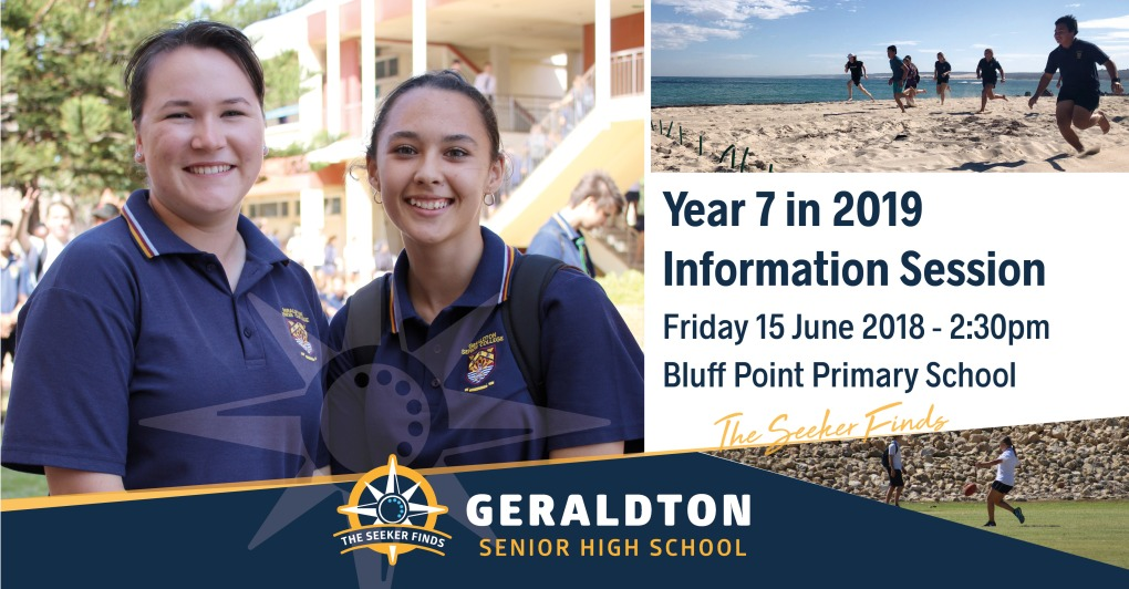 Year 7 in 2019 Information Sessions - Bluff Point PS